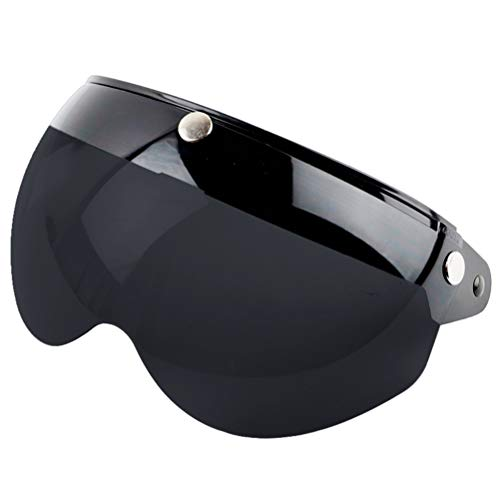 Breale Universal Motorrad Windproof Helm Visier Front Flip Up 3 Snap Sun Shield Halbgesicht Ersatz Helm Visier Zubehör