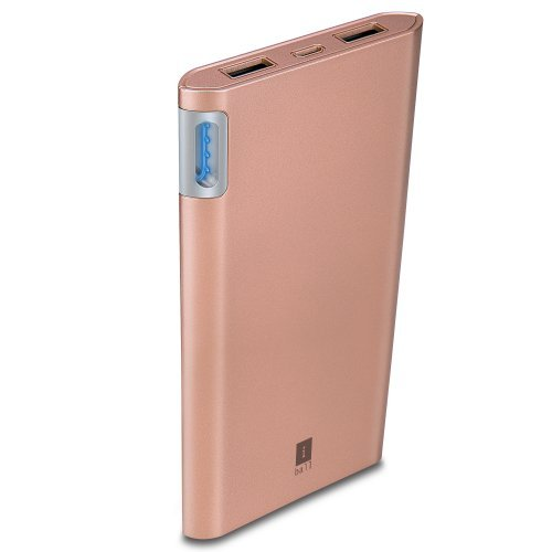 iBall 10000mAh Polymer Lightweight Power Bank with 2 USB Port - Rose Gold