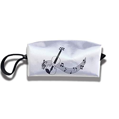 Kosmetiktasche mit Reißverschluss, für Violine, Musik, mittlere Geldbörse, Hangbag, Handgelenkhalter