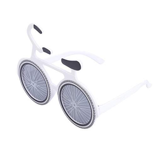 Bonheur Bicicletas Partido de la Noche de los vidrios de los favores Suministros Partido de la decoración de Año Nuevo Gafas de Vestir Accesorios de la Fiesta Puntales Booth (Amarillo)