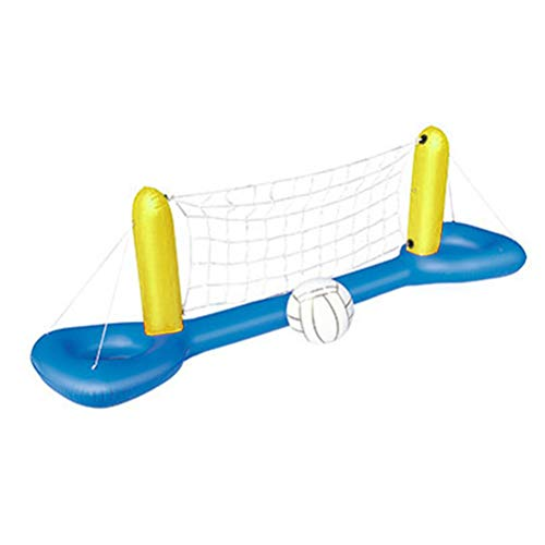 Mankoo Juego de Voleibol de Piscina Inflable con Pelota Juego de Voleibol de Agua Flotante de Verano Juguetes de Piscina para Adultos y niños 244 * 64 cm