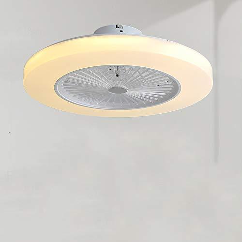 SZSBLT Lámpara de Techo Ultrafina LED Lámpara de Ventilador Lámpara de Ventilador de Techo Lámpara de Dormitorio silenciosa integrada con Ventilador eléctrico Ventilador Oculto para Dormitorio