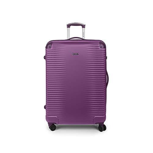 Gabol - Balance | Maletas de Viaje Grandes Rigidas de 52 x 76 x 28 cm con Capacidad para 85 L de Color Ciruela