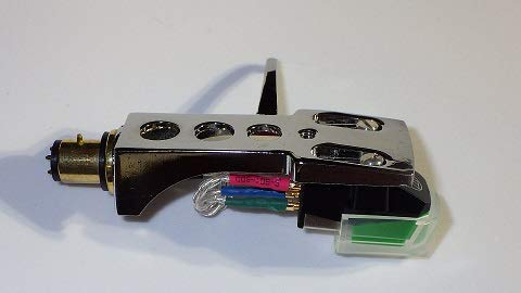 Chrome plated Headshell, mount, cartridge and stylus, needle for Pioneer PLX-1000, PL-518, PL-530, PL-A35, PLX-500, PL-560, PL-200, PL-516, PL-255, PL-200X, XL-A700, PL-A45D FREE MyNeedleStore Cloth