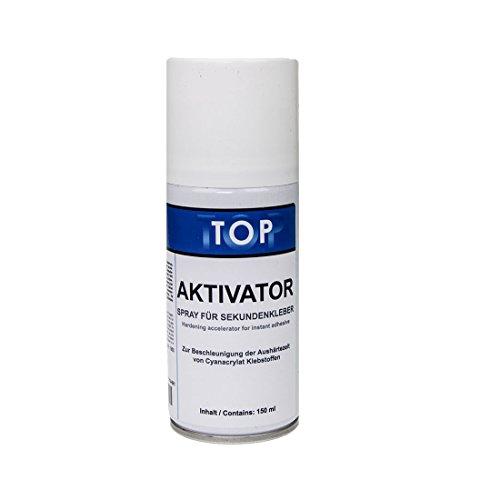 Top Sekundenkleber Aktivator Spray 150ml für schnelles Aushärten von Sekundenklebern - Atomkleber - Superkleber - Blitzkleber