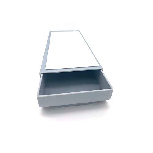 Minimal Design | Schreibtisch Organizer, selbstklebende Schublade, Aufbewahrungsbox, Make up Organizer, Schubladen Organizer, Stifte Aufbewahrung, Unterbau Schublade | Farbe: Grau