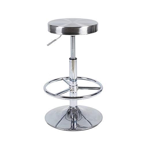 Jiamuxiangsi Ontbijt barkruk Counter Kruk, Tall RVS Bar Krukken met voetsteun, voor Pub Bistro Keuken Eetkamer, Past uit 23.5-31.5inch Salon kruk
