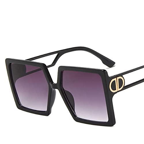 AMFG Hombres Y Mujeres Personalidad Gafas De Sol Trend Big Frame Street Shooting Sunglasses Moda Sombrilla Gafas (Color : H)