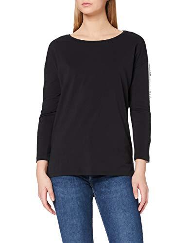 Calvin Klein Trix-6 Cn Lwk L/s Camiseta, Negro (Ck Black 099), Small para Mujer