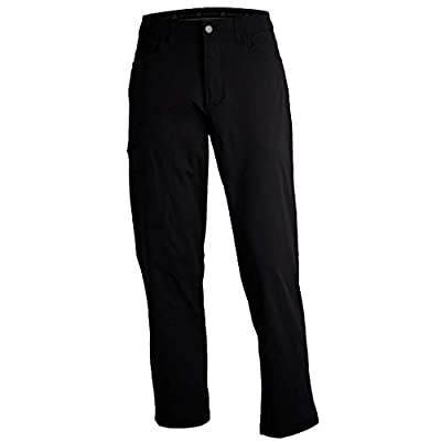 ZeroXposur Mens Stretch Hiking Travel Pants with Side Zipper Pocket and UPF 50+ Black 36/30