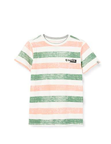 Garcia Kids Jungen Q03403 T-Shirt, Mehrfarbig (Off White 53), (Herstellergröße: 176)