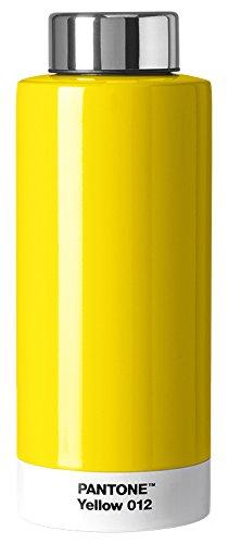 Pantone Trinkflasche, Edelstahl, Yellow 012, 7.4 x 7.4 x 19 cm