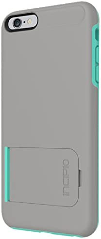 iPhone 6S Plus Case, Incipio KICKSNAP Case [Kickstand][Shock Absorbing] iPhone 6 Plus, iPhone 6S Plus Cover - Dark Gray/Teal