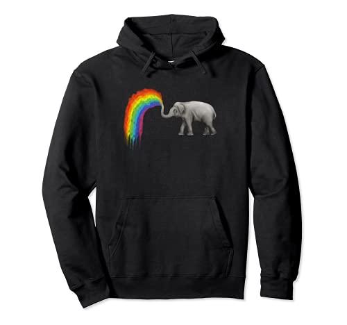 Regenbogen Wasser Elefant Kleidung Geschenk Elefanten Pullover Hoodie