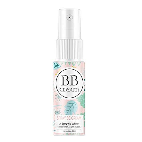 Sprühen BB Cream, Makeup Beauty Concealer Basis Gesicht Foundation, Whitening Moisturizing Spray BB Cream, Perfekt für Gesicht Körper Hals Bein Make-up, 20 ml