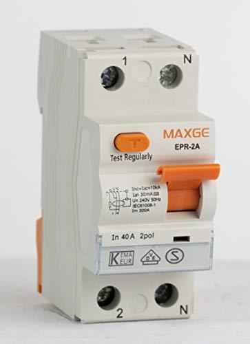 FI-Schutzschalter 2-Polig 16A Typ A 0,03 A Fehlerstrom-Schutzschalter