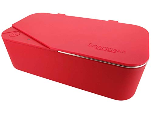 Smartclean Vison.5 Household Ultrasonic Cleaner Slim Compact Eyewear Cleaning (Red)
