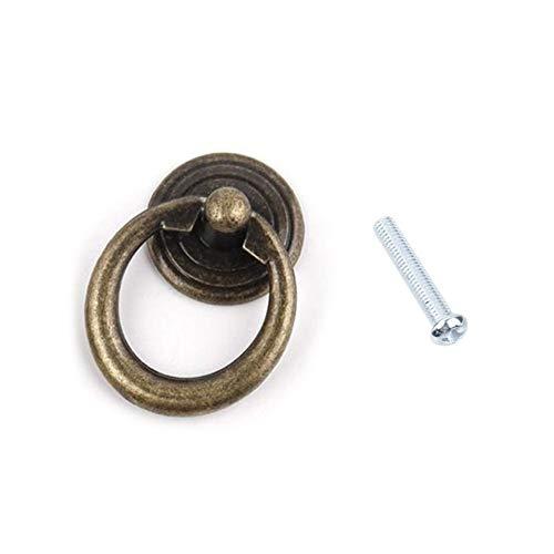 Loveless Land Retro Knöpfe Hängegriffe Türabstellers Kommode Kleiderschrank Ring Ziehen GriffSchrank Eisenwaren Zubehör (Bronze)
