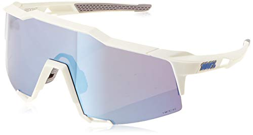 100% Occhiali Speedcraft Matte White - HiPER Iceberg Blue Mirror + Lente Clear