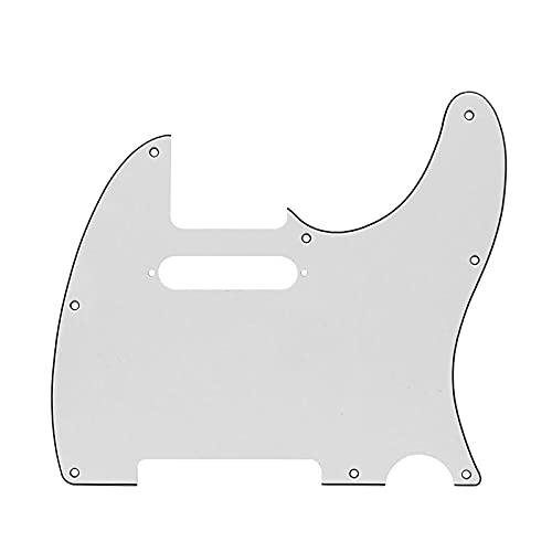 Accesorios de Guitarra 8 Agujeros de Guitarra eléctrica Pickguard Tele Pick Guard Plack Scratch Plack para Piezas de Guitarra de Estilo Tele estándar (Color : White 3ply)