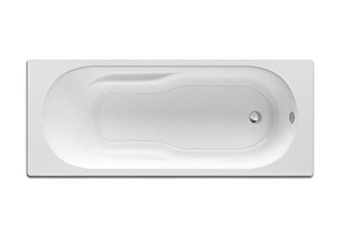 Roca - Bañera acrílica rectangular con hidromasaje Basic - Serie Genova N, Color Blanco