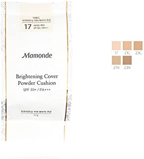 [Refill] Mamonde Brightening Cover Powder Cushion 50+ PA+++ 15g (#21N Medium Beige)