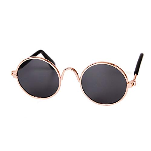 YOAVIP Cat Small Dog Cool Round Sunglasses Eyewear Photos Props Accessories Cosplay Glasses