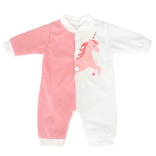 ZWOOS Puppenkleidung für New Born Babypuppen, Giraffe Strampler für Puppen 35-43 cm (Pink und Weiß)