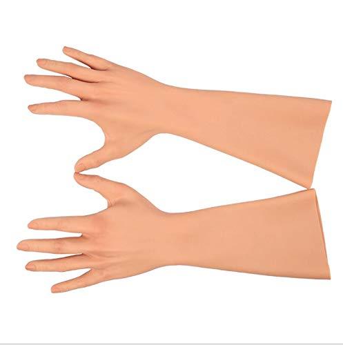 HJG Crossdressing Apparel Male To FemaleSilicone Gloves for Transvestite Cosplay Performance for Man WomenFlesh