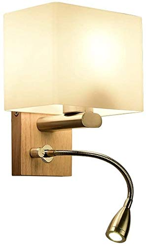 BESTPRVA Lámpara de Pared, lámpara de Pared nórdica Moderna Minimalista y Madera Creativa Adecuada para Sala de Estar/Dormitorio/Cama/lámpara/Escalera/Luces de Pasillo E27x1