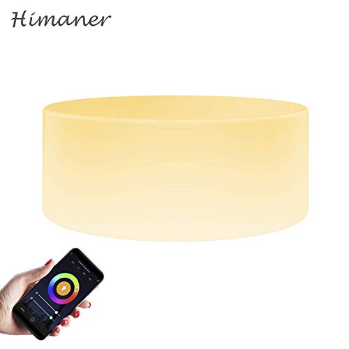 Himaner Smart-Tischlampe, WiFi-LED, Stimmungslicht, kompatibel mit Alexa und Google Home-Gerät, Farb- und Helligkeitsregler, mit Tap Sense Funktion