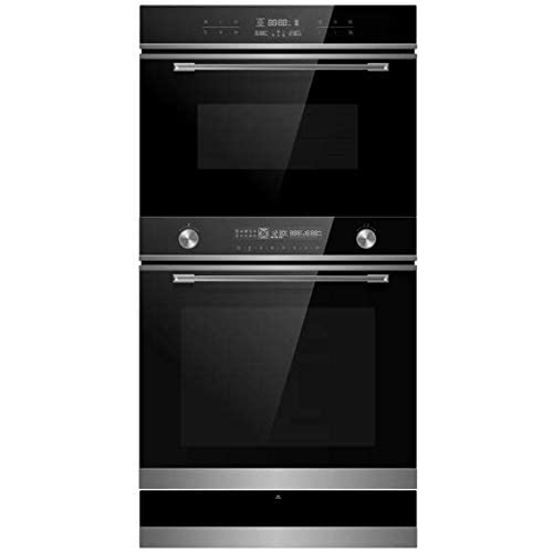 31gLd+YyUyL. SS500  - Cookology 72L Built-In Electric Oven, 44L Compact Microwave Oven & 22L Warming Drawer Pack