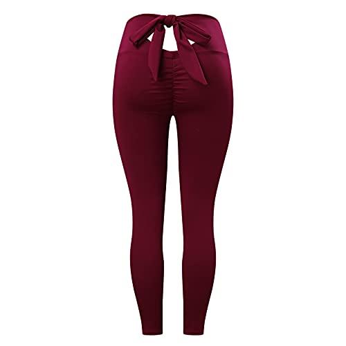 CXDS Leggings da donna strutturati anti-cellulite compressione pantaloni yoga a vita alta calzamaglia da corsa leggings jogging pantaloni elastici