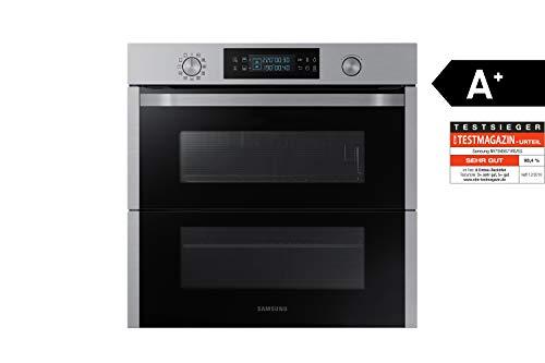 Samsung Dual Cook Flex NV75N5671RS/EG Backofen (Elektro/Einbau)/56,6 cm/Pyrolytische Selbstreinigung/Automatikprogramme/XXL-Garraum/Silber