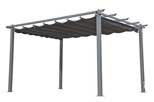 OUTFLEXX Pergola, anthrazit, Alu pulverbeschichtet, Dach anthrazit, 400 x 300 x 220 cm