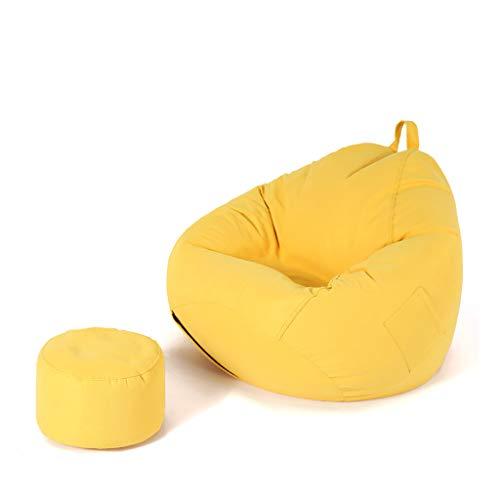 SD Canapé/Bean Bag Chaise/Pouf Poire/Confortable/avec Repose-Pied/avec Mousse Ultra Confortable/pour Enfants Et Adultes/110 * 130 cm