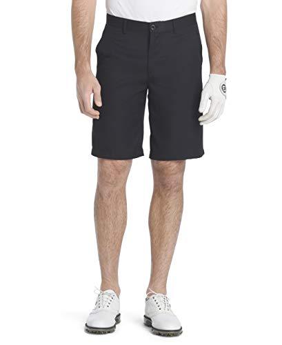 """IZOD Men's 9.5"""" Straight Fit Swingflex Golf Short, Caviar, 29W"""
