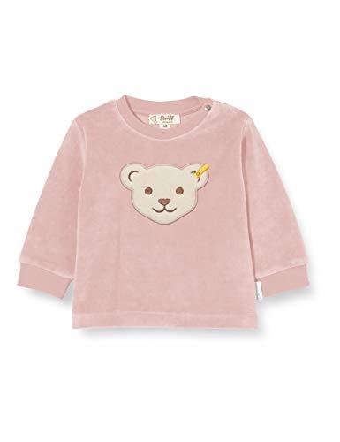Steiff Baby-Unisex mit süßer Teddybärapplikation Sweatshirt GOTS, Zephyr, 080