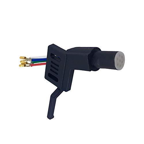 Headshell ADC 7-polig zwart systeemdrager geschikt voor platenspeler met rechte toonarm