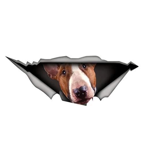 GDYL Pegatinas De Coche Creativo Bull Terrier Pet 3D Accesorios De Calcomanía...