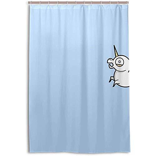 """Blanc Licorne Kids Enfant Set salle de bain tissu imperméable rideau de douche Liner 72/"""""""