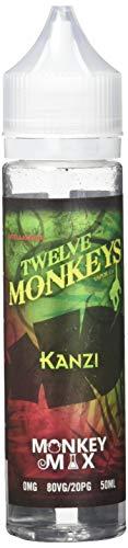 Twelve Monkeys e-Liquid Kanzi, Shake-and-Vape für Ihre e-Zigarette, 0,0 mg Nikotin, 50 ml