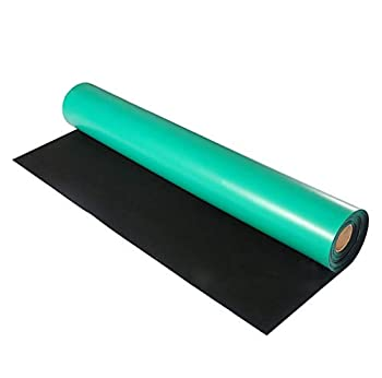 tonchean Anti-static table mat 118   x 24   High Temperature Electrical Grounding Desk Pad Large Rubber Workbench Mats for Sensitive Electronics Working