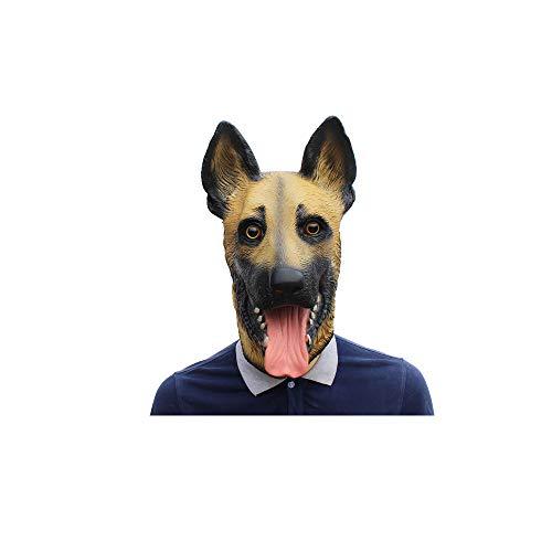 CLHCilihu Deutscher Schäferhund Maske, Welpen Maske Latex Neuheit Forum Kostüm Party Cosplay Erwachsene Kinderkleidung Zubehör