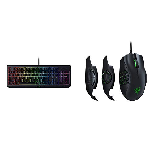 Razer BlackWidow Mechanical Gaming Keyboard & Naga Trinity Gaming Mouse: 16,000 DPI Optical Sensor - Chroma RGB Lighting - Interchangeable Side Plate w/ 2, 7, 12 Button Configurations
