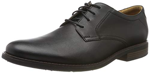 Clarks Men's Becken Lace Brogues, Schwarz (Black Leather), 43 EU