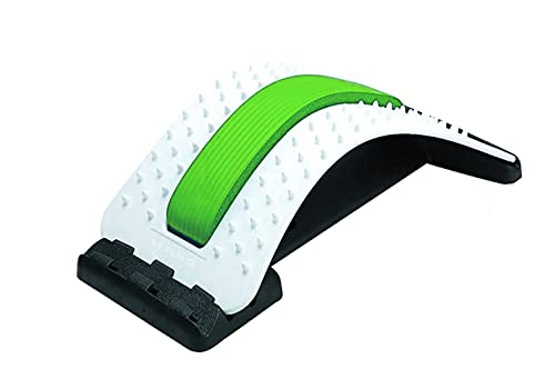 ChiFit Lumbar Back Pain Relief Device, Lumbar Back Stretcher, for Lower and Upper Back Massager and Support,Lumbar Support for Office Chair (Green)