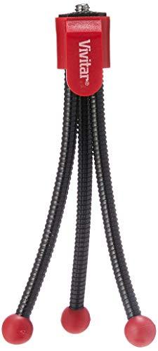 Mini Tripé Flexível com Altura até 10 cm, Vivitar, VIVVT2-Vermelha, Geral, Red