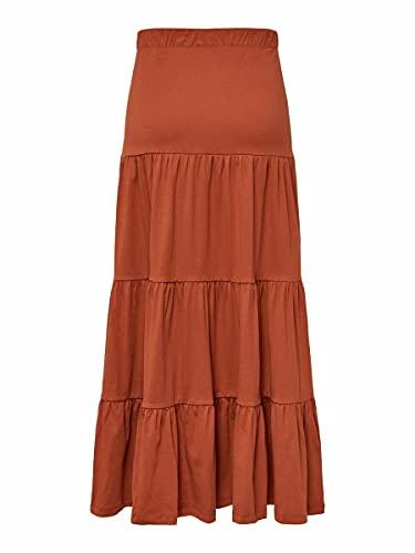 Only ONLMAY Life Maxi Skirt JRS Falda, Especias De Arabia, S para Mujer