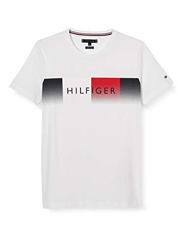 Tommy Hilfiger Herren Th Cool Hilfiger Fade Tee Hemd, White, L
